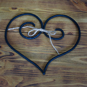 Piękne serce dekoracyjne kute ręcznie