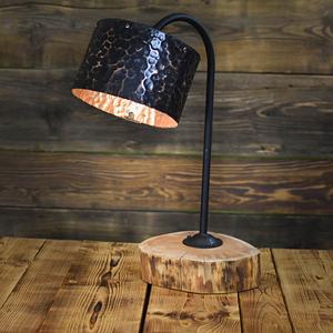 Wyjątkowa miedziana lampka nocna ręcznie kuta