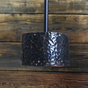 Cudowna metalowa kuta ręcznie miedziana lampa