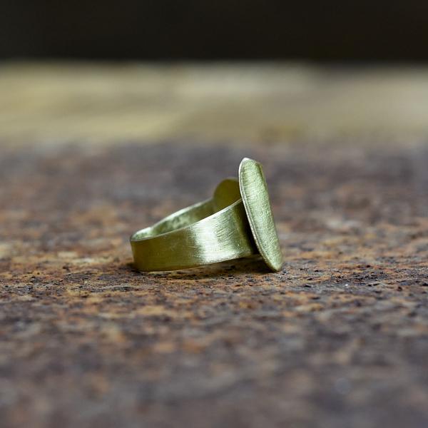 pierścionek mosiężny