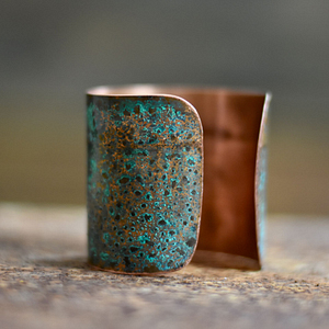 Piękna patynowana bransoleta ręcznie wykonana