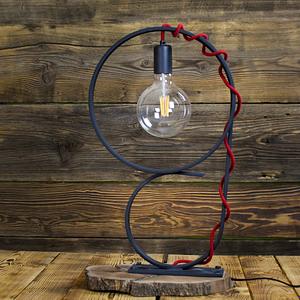 Przepiękna stylowa czarna lampa ręcznie kuta