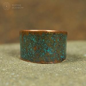 pierścionek z miedzi
