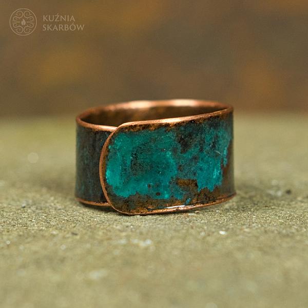 pierścionek ręcznie robiony