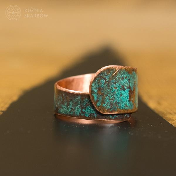 pierścionek turkusowy